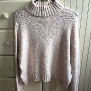 Baby Pink American Eagle Turtleneck Sweater